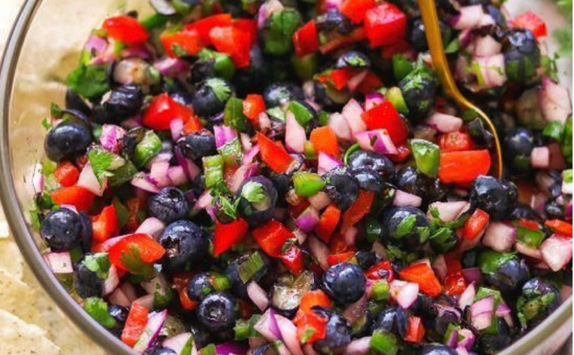 New obsession: Blueberry Salsa!